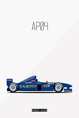 Harald Painting - Prost Acer Ap04 F1 Poster by Beautify My Walls