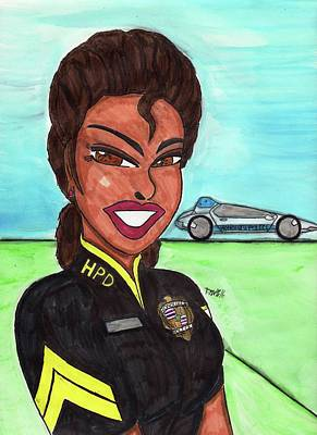Protect And Serve Hawaiian Style 3 Print by Ronald Woods
