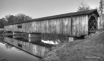 Protection That Works Historic Watson Mill Covered Bridge Print by Reid Callaway