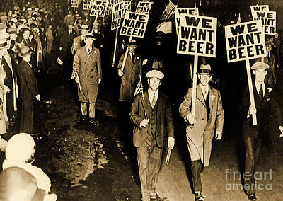 Protest Against Prohibition, New Jersey, 1931 Print by American School