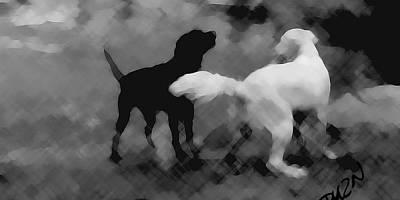 Black Top Digital Art - Challenger by Tom Dickson
