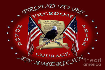 Proud To Be An American Print by Michael Waisner