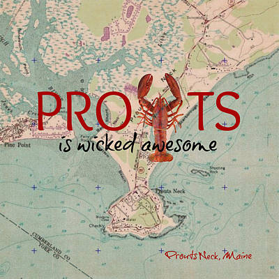 Maine Coast Mixed Media - Prouts Maine Lobster V2 by Brandi Fitzgerald