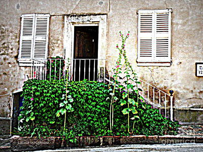 Provence Door Number 12 Print by Lainie Wrightson