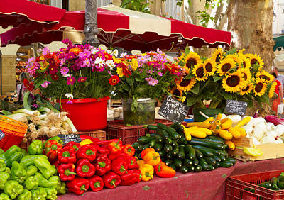 Europe Provence Aix-en-provence Photograph - Provence Market by Anastasy Yarmolovich