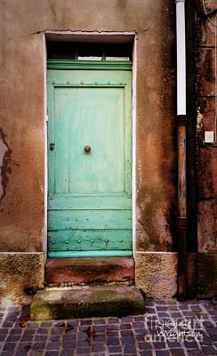 Provence Soft Green Door Print by Lainie Wrightson