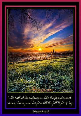 Bible Verse Photograph - Proverbs by Phil Koch