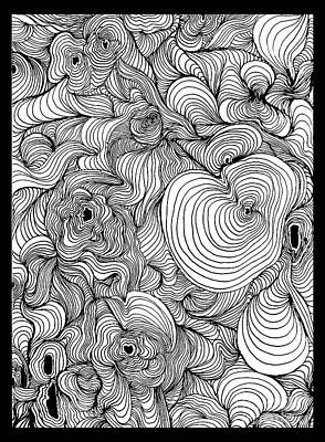 Visionary Art Drawing - Psychedelic Swirls Optical Art by Paul Telling