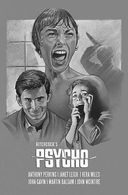 David Robinson Drawing - Psycho by David Robinson