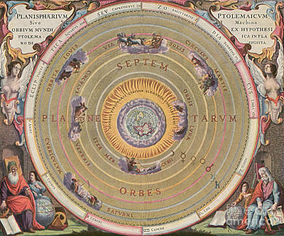 Ptolemaic Universe, 1660 Print by Granger