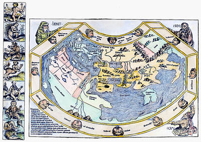 1493 Photograph - Ptolemaic World Map, 1493 by Granger