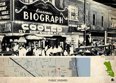 Johnny Depp Mixed Media - Public Enemies Movie Location, Johnny Depp, Dillinger by Pablo Franchi