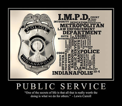 Public Service 2 Print by Dave Lee