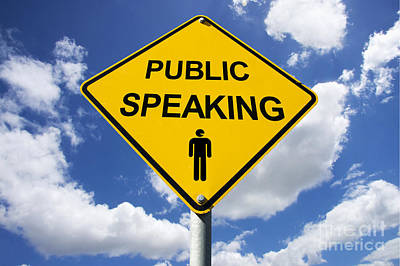 Public Speaking Sign Print by Jorgo Photography - Wall Art Gallery