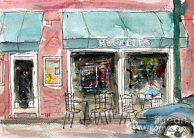 Pucketts Painting - Pucketts Grocery by Tim Ross