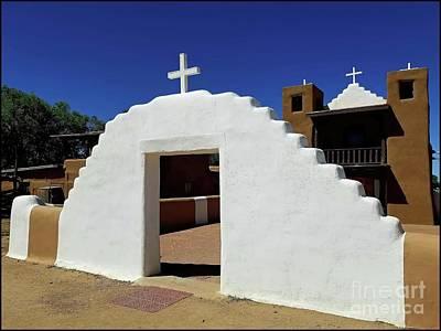 Pueblo De Taos Church Print by Jon Burch Photography