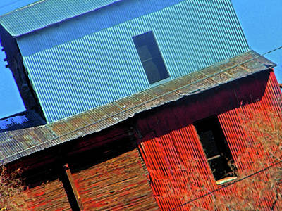 Feed Mill Digital Art - Pueblo Downtown--sweenys Feed Mill by Lenore Senior