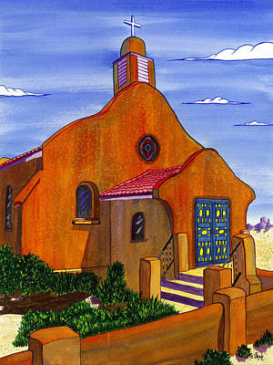 Grande Painting - Pueblo Mission by Clark Sheppard