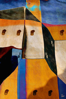 Rectangles Digital Art - Pueblo Number 1 by Carol Leigh
