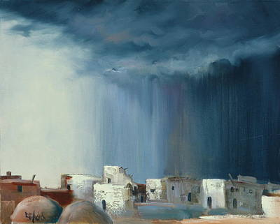 Pueblo Storm Print by Sally Seago