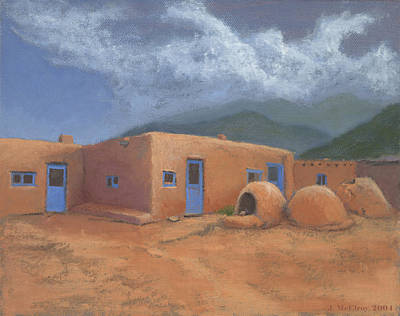 Zuni Painting - Puertas Azul by Jerry McElroy