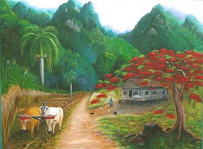 Casita Painting - Puerto Rico Central by Toyo Perez