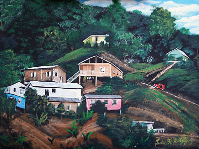 Puerto Rico Mountain View Print by Luis F Rodriguez