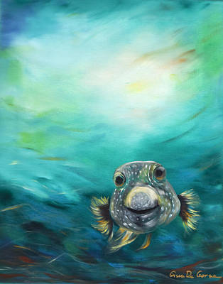 Pufferfish Print by Gina De Gorna