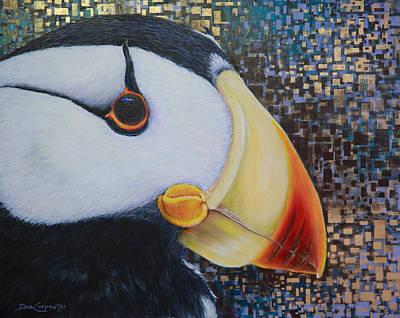 Puffin Glam Print by Dee Carpenter