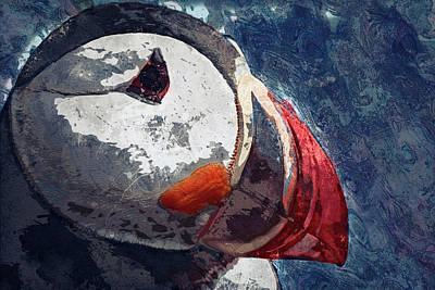Puffin Digital Art - Puffin by Jack Zulli