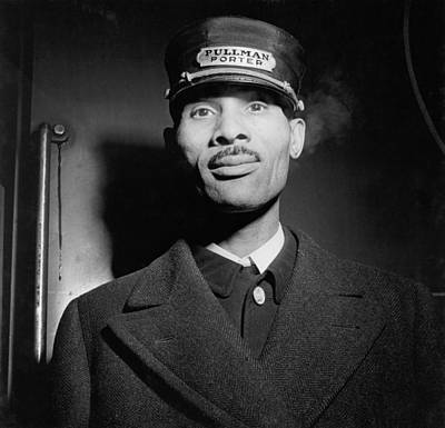 Brotherhood Photograph - Pullman Porter At The Union Station by Everett
