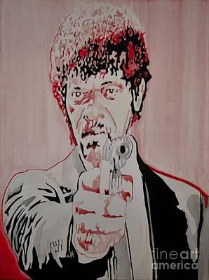 Tarantino Film Painting - Pulp Fiction. Jules by Chris Harland