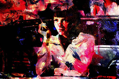 Samuel L Jackson Painting - Pulp Fiction Uma Thurman by Brian Reaves