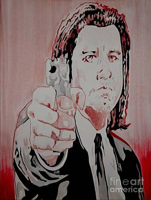 Tarantino Film Painting - Pulp Fiction. Vincent by Chris Harland