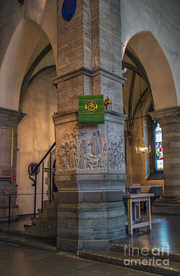 Orebro Photograph - Pulpit St. Nicholas Church by Roberta Bragan