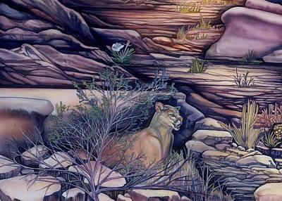 Puma In The Desert Print by Sevan Thometz