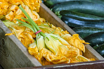 Locally Grown Photograph - Pumpkin Blossoms by Teri Virbickis