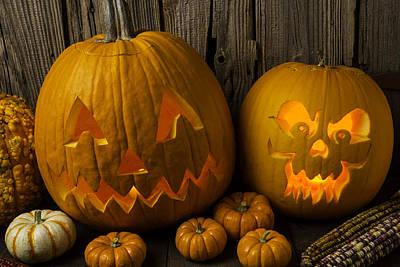 Pumpkin Friends Print by Garry Gay