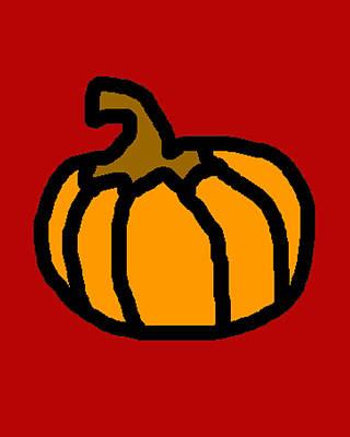 Jack-o-lantern Digital Art - Pumpkin by Jera Sky