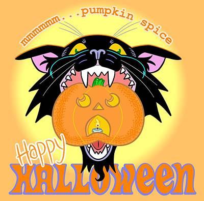 Jack-o-lantern Digital Art - Pumpkin Spice by J L Meadows