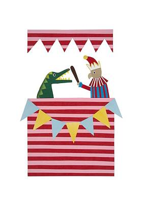 Bunting Mixed Media - Punch And Judy by Isobel Barber