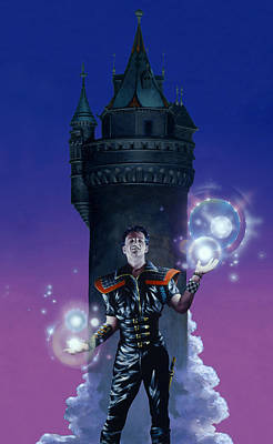 Knights Castle Painting - Punk Sorcerer by Richard Hescox