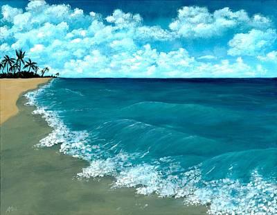 Drawing Painting - Punta Cana Beach by Anastasiya Malakhova