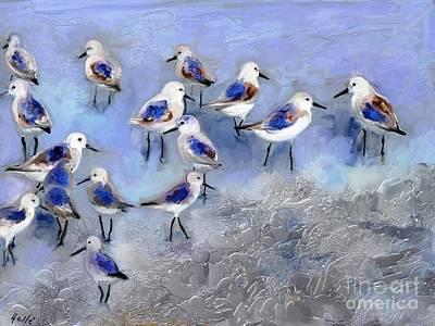 Sandpiper Digital Art - Punta De Chame by Aline Halle-Gilbert