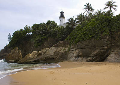 Punta Tuna Light House And Beach Reserve Puerto Rico Print by Stephen Carver