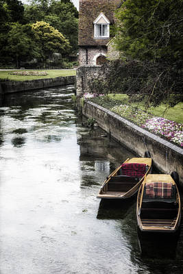 Garden Flowers Photograph - Punting Boats by Joana Kruse