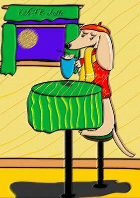 Dachshund Art Digital Art - Puppacino by Diana-Lee Saville