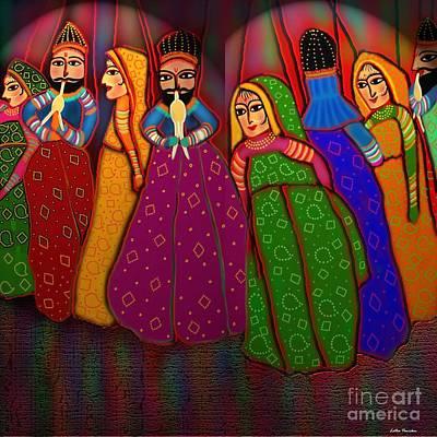 Ethnic Dolls Digital Art - Puppet Show by Latha Gokuldas Panicker