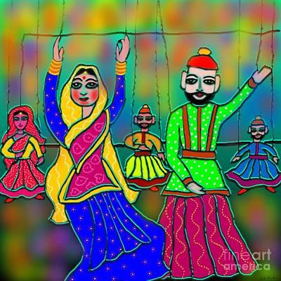 Ethnic Dolls Digital Art - Puppets by Latha Gokuldas Panicker