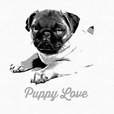 Animals Drawing - Puppy Love by Edward Fielding